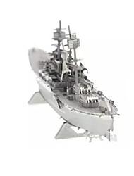Puzzles Puzzles 3D Blocs de Construction Jouets DIY  Navire de Guerre Acier inoxydable Maquette & Jeu de Construction