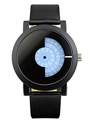 Women's Fashion Watch Quartz Water Resistant / Water Proof Leather Band Black