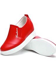 Для женщин Мокасины и Свитер Удобная обувь Ткань Весна Осень Повседневные Для прогулок Удобная обувь На плоской подошвеЧерный