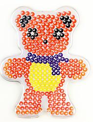 1PCS 5MM Fuse Beads Clear Template Pegboard Stencil Teddy Bear Shape Hama Perler Beads Pegboard Kid DIY Educational Craft Jigsaw Toy Random Color Card