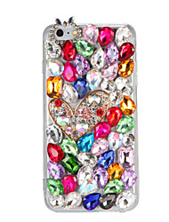 For Rhinestone DIY Case Back Cover Case Glitter Shine 3D Cartoon Hard PC for Apple iPhone 7 7 Plus 6s 6 Plus SE 5s 5