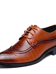 Men's Oxfords Bullock shoes Formal Shoes Fashion Boots Leather Spring Summer Fall Winter Wedding Office & Career Party & Evening Walking