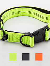 Reflective Nylon Neoprene Safety  Adjustable Collar for Medium and Large Dogs