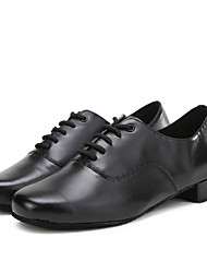 Herren Latin Echtes Leder Flach, Ballerinas Sneakers Innen Farbaufsatz Niedriger Heel Schwarz Unter 2,5 cm