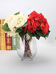 7 Филиал Пенопласт Пластик Полиуретан Недвижимость сенсорный Гортензии Pастений Букеты на стол Искусственные Цветы