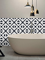 Triangle Pattern Tile Wall Stickers Sitting Room Bedroom Adhesive Waterproof PVC Film