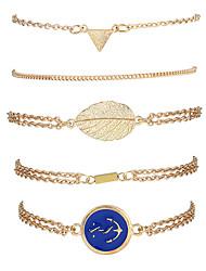 Femme Chaînes & Bracelets Charmes pour Bracelets Bracelets de rive Mode Vintage Style Punk Pierre Alliage de métal Résine StrassForme