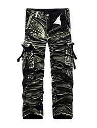 Homme Actif Chinoiserie Taille Normale non élastique Ample Chino Pantalon,Ample Droite camouflage