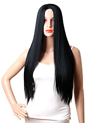 Black Straight Long Daily Capless Wig High Quality High Temperature Heat Resistant