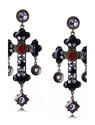 Euramerican Fashion Casual Unique Luxury Female Statement Jewelry Ladies Elegant Drop Earrings For Women Bohemian Tassels Rhinestone Dangle Earrings