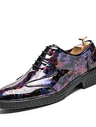 Homme Chaussures Croûte de Cuir Printemps Eté Automne Hiver Chaussures formelles Oxfords Marche Motif Animal Pour Mariage Soirée &