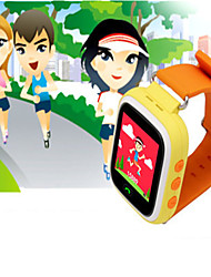 Kid's Smart Watch Digital Rubber Band Blue Orange Pink