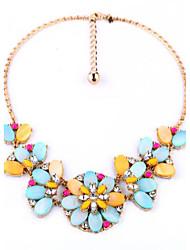 Femme Colliers chaînes Colliers Déclaration Forme de Fleur Forme Géométrique Alliage Original A Fleurs Bijoux de Luxe Bijoux PourSoirée