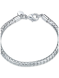 Exquisite Silver Plated  Chain & Link Bracelets Jewellery for Women Accessiories