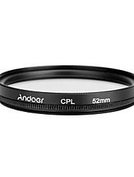 Andoer 52mm digital slim cpl polarizador circular filtro de vidro polarizador para canon nikon sony dslr camera lens