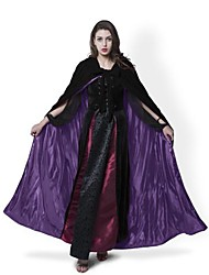 Medieval Black Cloak Lined Purple Satin Halloween Robe Renaissance Wedding Velvet Cape Cosplay Cape Wicca SCA LOTR LARP Goth
