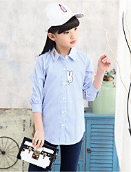 Girls' Plaid Shirt,Cotton Polyester Fall Long Sleeve