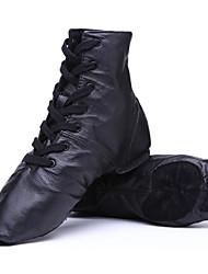 Damen Modern Leder Flach, Ballerinas Sneakers Praxis Schwarz