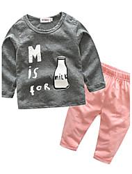 bébé Enfants Coton Décontracté / Quotidien Vacances Sortie Dessin-Animé Ensemble de Vêtements,Dessin Animé Automne Printemps