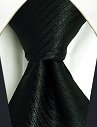 CXL28  New Fashion Mens Necktie Extra Long Solid Black 100% Silk Business Unique Dress