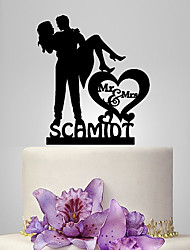 Personalized Acrylic Princess Hug Wedding Cake Topper