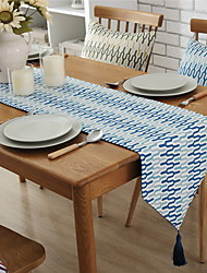 Colorful Nordic Decoration Fashion Cotton And Linen Table Flag 32*160cm
