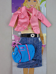 Fashion Autumn Outfit with A Bag For Barbie Doll For Girl's Doll Toy