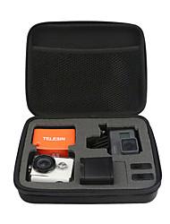 TELESIN Medium Size Protective Carry Bag Box for GoPro Hero 5 Hero 4 3 21 SJCAM SJ4000 Xiaomi Yi 4K 4K Cameras Case Accessories