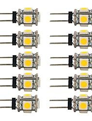 1.5W LED à Double Broches T 5 SMD 5050 90 lm Blanc Chaud Blanc Décorative DC 12 V 10 pièces