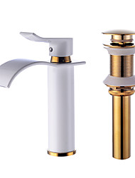 Centerset Waterfall with  Ceramic Valve One HoleBathroom Sink Faucet