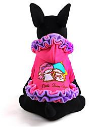 Cachorro Vestidos Roupas para Cães Casual Princesa Roxo Rosa claro