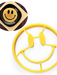 Silicone Smile Egg Fried Mould Lovely Cartoon Silicone Molds Shaper Ring Pancake Kitchen Cool