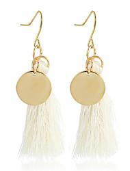 Women's Drop Earrings Tassel Ferroalloy Round Jewelry For Dailywear Casual Stage