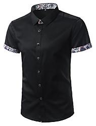 Herren Bedruckt Einfach Aktiv Lässig/Alltäglich T-shirt,Stehkragen Sommer Kurzarm Baumwolle Dünn