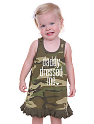 Girl's Print Dress Cotton Summer Sleeveless ArmyGreen Camouflage Vest Dress for Kids Girls Toddler Baby Dresses
