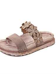 Women's Sandals Gladiator PU Spring Summer Casual Dress Gladiator Lace-up Flat Heel Black Beige Light Brown Dark Brown Flat