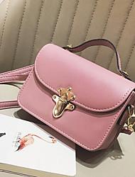 Women Shoulder Bag PU All Seasons Casual Outdoor Square Clasp Lock Blushing Pink Black Green