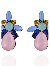 Femme Boucles d'oreille goujon Cristal Circulaire Géométrique Cercle bijoux de fantaisie Mode Vintage Bohême Adorable Personnalisé