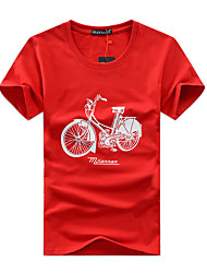 New Arrival 5 Colors S-5XL  Men's Plus Size Casual/Daily Simple Active Summer T-shirt Letter Print Round Neck Short Sleeve Cotton Thin Hot Sale