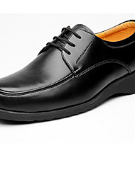 Men's Oxfords Formal Shoes Leather Spring Fall Office & Career Black 2in-2 3/4in
