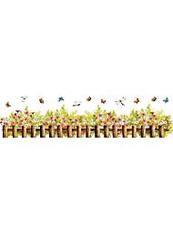Květiny a rostliny Komiks Módní Samolepky na zeď Samolepky na stěnu Ozdobné samolepky na zeď,Vinyl Materiál Home dekoraceLepicí obraz na