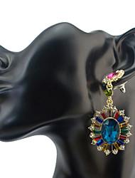 Women's Drop Earrings Crystal RhinestoneBasic Unique Design Dangling Style Pendant Rhinestones Friendship Luxury Durable Statement