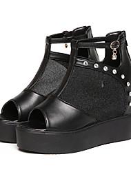 Damen Stiefel Komfort Neuheit Club-Schuhe Modische Stiefel Stiefeletten Tüll Frühling Sommer Herbst Kleid Party & FestivitätKomfort