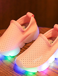 Girls' Loafers & Slip-Ons Comfort Moccasin Light Up Shoes Spring Summer Fall Leather Tulle Walking Shoes Athletic Casual Outdoor LED Low