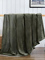 Супер мягкий Сплошной цвет 100%микро волокно одеяла
