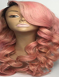 Light Pink Body Wave Soft Brazilian Human Hair Wigs Glueless Full Lace Virgin Human Hair Wigs With Baby Hair
