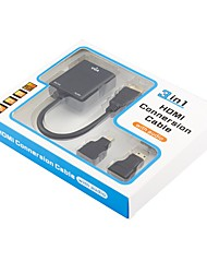 VGA Adaptador, VGA to HDMI 1.4 Mini HDMI Micro HDMI Adaptador Macho - Hembra 0.2m (0.65Ft)