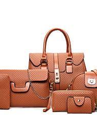 Damen Taschen Ganzjährig PU Bag Set mit für Normal Gold Schwarz Grau Braun