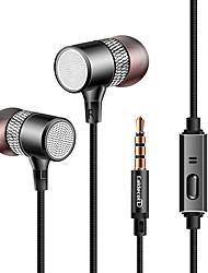 Kdk309 écouteurs avec écouteurs avec écouteur en plastique dynamique avec écouteur avec microphone avec casque de contrôle de volume