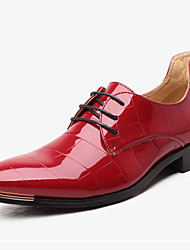 Для мужчин обувь Термопластик Весна Осень Формальная обувь Туфли на шнуровке Заклепки Назначение Свадьба Для праздника Черный Красный